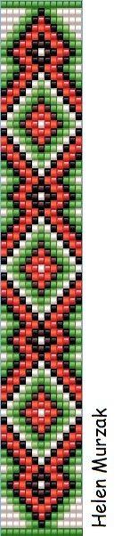 Simple geometric loom bracelet pattern square stitch patterns