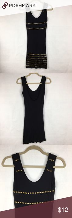 Black dress with studs Black dress with studs. Stud details on front only. Wet seal size small. 100% rayon. Looks like some studs are close to falling off. Wet Seal Dresses Mini