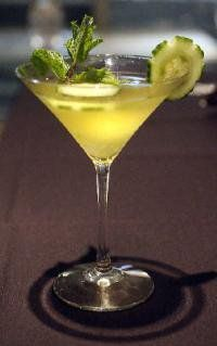 Bought some Skinny Girl Cucumber Vodka this weekend and will try this! *Skinnygirl Cucumber Refresher Martini*     2oz Skinnygirl cucumber vodka   ½ oz fresh lime juice   Muddled mint leaves   Shake with ice and pour into martini glass   Top with splash of club soda