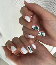 """If you're unfamiliar with nail trends and you hear the words """"coffin nails,"""" what comes to mind? It's not nails with coffins drawn on them. It's long nails with a square tip, and the look has. Nail Art Designs, Colorful Nail Designs, Trendy Nails, Cute Nails, Pink Nails, My Nails, Green Nails, Vacation Nails, Nagellack Trends"""