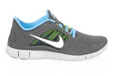 Women\'s Nike Free Run+ 3 Dark Grey - Silver - Pure Platinum   I want these sooooo bad!