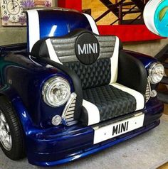 Classic-Mini-Cooper-Sofa-Perfect-For-Home-Cinema-Like-A-Drive-Thru-Movie-Etc