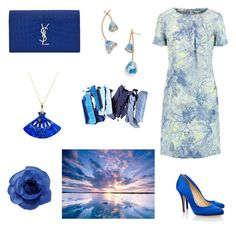 """""""50 shades of blue"""" by gloria-yi-qiao on Polyvore featuring Erdem, Tory Burch, Chanel, Liam Fahy and Yves Saint Laurent"""