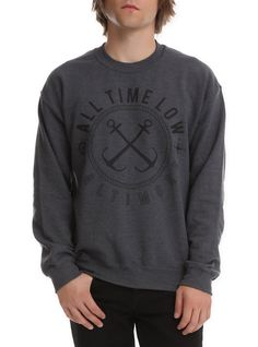 All Time Low Baltimore Crew Pullover,