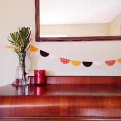 Modern Thanksgiving Fabric Banner - Pennant Garland  Metallic Home Decor Scallop Holiday Gold Pumpkin Orange Arrows Brown Yellow Trendy by thetullebox on Etsy https://www.etsy.com/listing/208147030/modern-thanksgiving-fabric-banner