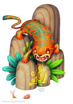 God Tiger  Rocío García (Rochi) ART