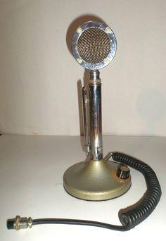 Vintage Microphone  Lollipop Microphone  Ham Radio by DemmersArt