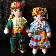 Handmade Mongolian/ Ethnic Chinese Dolls