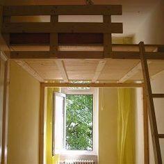hochbett mit leiter aus fichtenholz m belkram pinterest hochbetten leiter und treppe. Black Bedroom Furniture Sets. Home Design Ideas