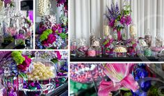 candy buffets | Candy Buffet for Wedding - Multi Coloured Candy Buffet