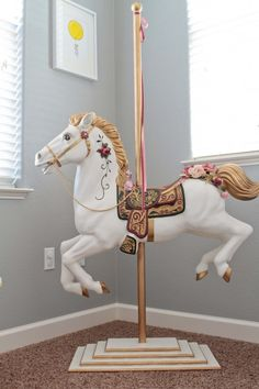 carousel horse refinishing mine as a child