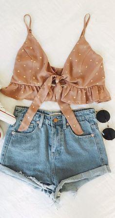 9bb2fc5d1ee ̗̀ lillianrose ̖́- Summer Dresses Tumblr, Summer Crop Top Outfits, Teen  Summer