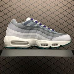 0b1561eddf2 Nike Air Max 95 White Grey Green 818592-995 For Men