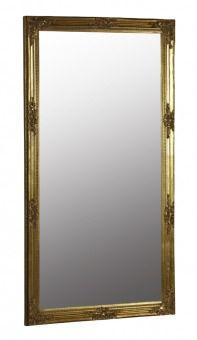 Barock-Spiegel, 84 x 154 cm, gold - Goldfarbener XXL-Wandspiegel im Barock Look. Spiegelmaße: L70 x H140 cm. Inklusive zwei Aufhängern und vier Schrauben zur individuellen Anbringung.Material: Holz