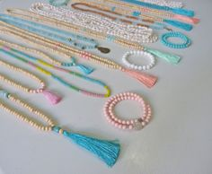 beachcomber etsy yoga by the sea tassel necklaces crystal healing bracelets