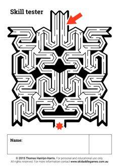 www.skidaddlegames.com.au Printable Mazes, Activities, Education, Onderwijs, Learning