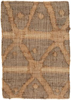 #DashandAlbert Rumi Jute Woven Rug. With its beautifully distressed look and and rustic crisscross pattern in subtle shades of blue, green, and earthy brown, this woven jute rug is a standout for the covered porch or cozy family space.
