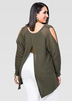 Plus Size Fashion Clothing & Trendy Clothes ǀ Ashley Stewart Fashion 101, Cute Fashion, Girl Fashion, Fashion Outfits, Fashion Design, Curvy Outfits, Plus Size Outfits, Plus Zise, Cold Shoulder Sweater