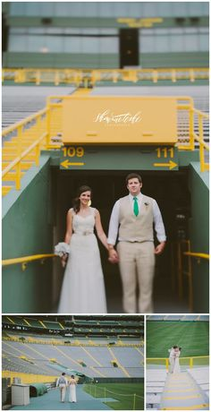 Classy Football Themed Wedding | Lambeau Field | Shaunae Teske Photography
