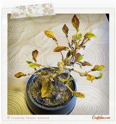Crafteina: Nueva vida para mi bonsai gracias al ganchillo ✿ A new life for my bonsai thanks to crochet