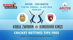 free cricket betting tips Kabul vs Kandahar Today Cricket Baazigar Provide Match Prediction and free cricket betting tips Kabul vs Kandahar. All fans of cricket can also get free updates on the page www. Cricket Tips, Cricket Match, Sports Betting, Money, Gaming, Fans, Silver, Followers, Toys