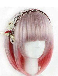 Tsnomore Mixed Color Fashion Women Bob Cosplay Synthetic Wig