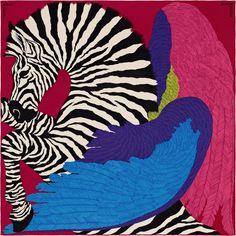 Zebra Pegasus - Blue, Purple, Plum and Magenta