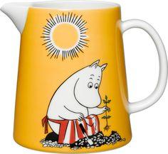 Moomin pitcher Moominmamma´s day l Moomin Shop, Moomin Mugs, Tove Jansson, Ceramic Pitcher, Nordic Home, Milk Jug, Porcelain Ceramics, Pictures To Draw, Marimekko