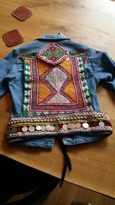 Handmade vintage Kuchi denim jacket by the Kiyomi Collection