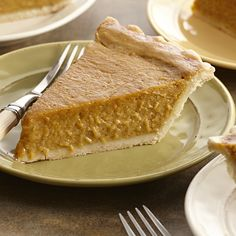 This traditional Thanksgiving pumpkin pie gets rich flavor from the coconut milk in the creamy pumpkin filling.