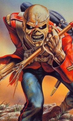 Iron Maiden, The Trooper The Rock, El Rock And Roll, Iron Maiden Mascot, Hard Rock, Iron Maiden Albums, Iron Maiden Posters, Eddie The Head, Iron Maiden Band, Rock Band Posters