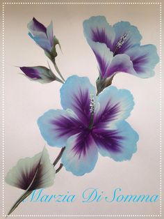 rozzy in 2019 Peony Painting, One Stroke Painting, Tole Painting, Fabric Painting, Diy Painting, Painting & Drawing, Folk Art Flowers, Flower Art, Painting Lessons