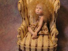 Carol McBride Fine Art Dolls. Miniature polymer clay doll.