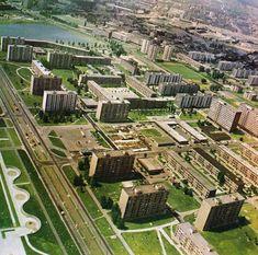 letecký pohľad na Štrkovec 1975