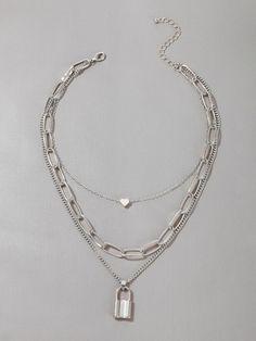 Hand Jewelry, Jewelry Rings, Jewelery, Silver Jewelry, Jewelry Accessories, Silver Necklaces, Layering Necklaces, Layered Necklace Set, Stylish Jewelry
