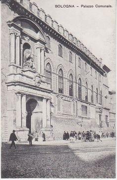 Al Trust delle Cartoline Postcard - Bologna - Palazzo Comunale - Animata  c1909 #bologna #natalefontanagioielli