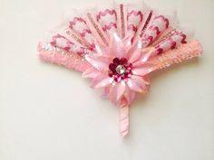 Multi-colored Pink hand-held lace fan #fans