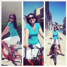 I want to ride my bicycle! @angieaway, away on her bike on the canels of Comacchio - Instagram by @BudgetTraveller