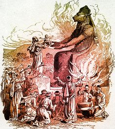 Molech, Baal, Osiris different names for same pagan god of Canaanites