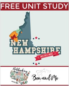 """FREE New Hampshire Unit Study for grades 3-8 -- learn about the """"Granite State"""" in this 9th installment of Notebooking Across the USA."""