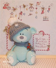Crochet Teddy Bear by Julio Toys. Handmade Teddy bear