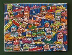 JAMES RIZZI  HIGH ROAD & LOW ROAD POSTER AUF PLATTE 25
