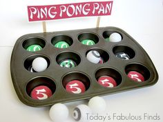 Today's Fabulous Finds: Kids Boredom Buster: 'Ping Pong Pan' Game with Free Printable