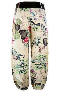 4302e9fef56b84 KorMei Women's Floral Print Elastic Waist Casual Harem Pants with Pockets  ** For more information