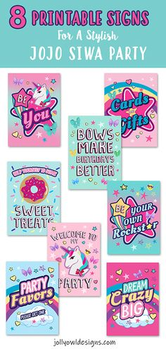 Create a stunning Jojo Siwa Party using these printable table signs. Jojo Siwa Birthday Cake, Birthday Party At Home, 6th Birthday Parties, 8th Birthday, Birthday Ideas, Toy Story Party, Toy Story Birthday, Minnie Mouse Party, Mouse Parties