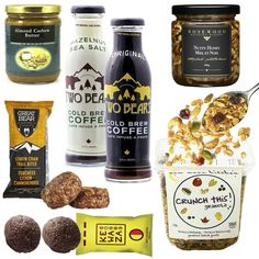 Healthy Gourmet Gifts - Rise and Shine Breakfast, $76.00 (http://www.healthygourmetgifts.com/brunch-breakfast-tea-salmon-granola-natural-gift-basket/)