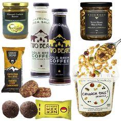 Healthy Gourmet Gifts - Rise and Shine Breakfast, $76.00 (http://www.healthygourmetgifts.com/brunch-breakfast-tea-salmon-granola-natural-gift-basket/)