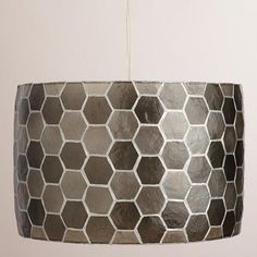 Honeycomb Capiz Drum Pendant Lamp $130