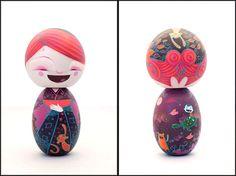 awesome kokeshi doll design