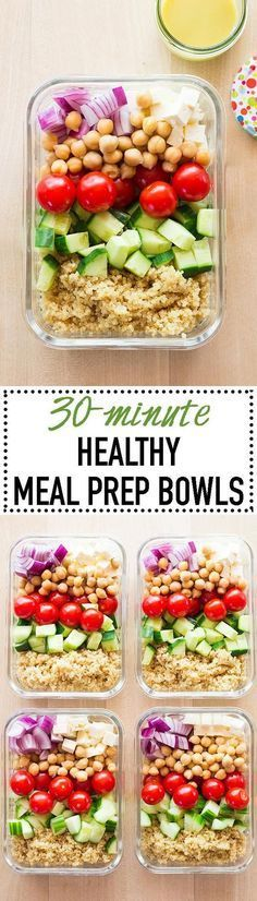 Get back into a meal prepping routine now that summer fun is almost over! Keep summer in your lunch for now with these Healthy Meal Prep Bowls. http://healthyquickly.com